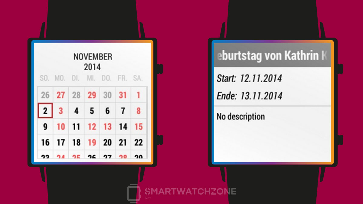 Calendario para Android Wear