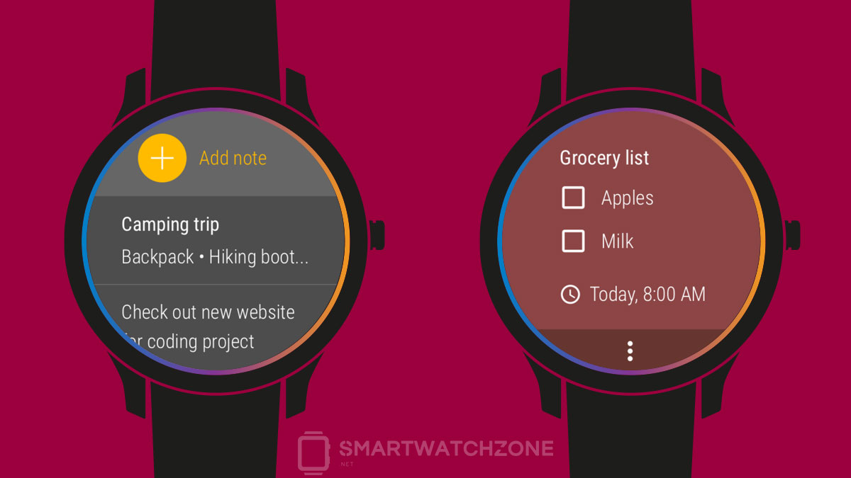 Google Keep para Android Wear