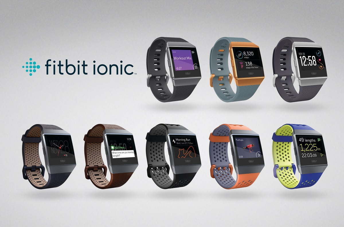Gama completa del smartwatch Fitbit Ionic