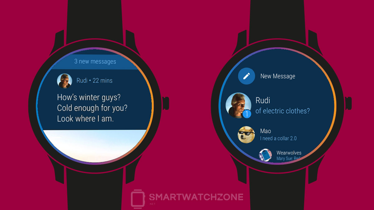 Telegram para Android Wear
