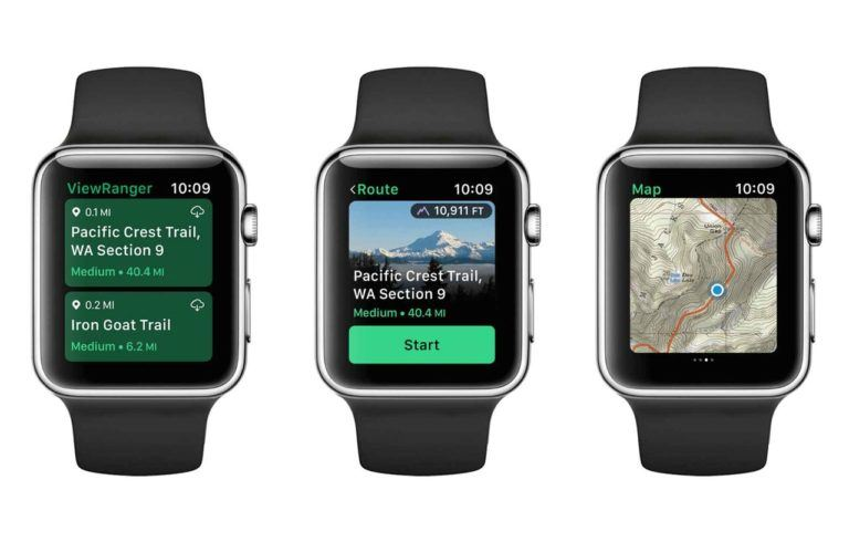 ViewRanger en el Apple Watch