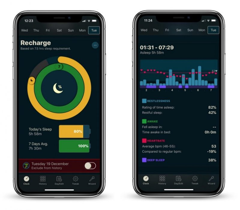 AutoSleep 5 para el iPhone X