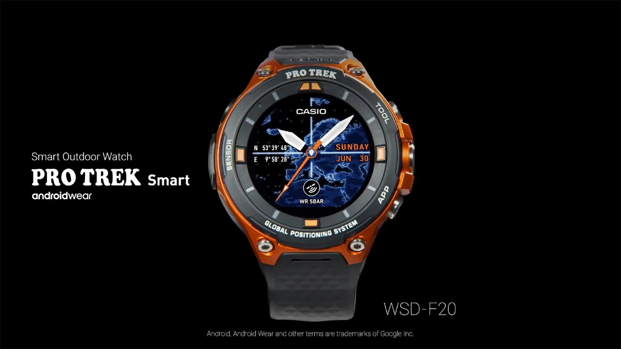Casio Pro Trek Smart WSD-F20 con Android Wear