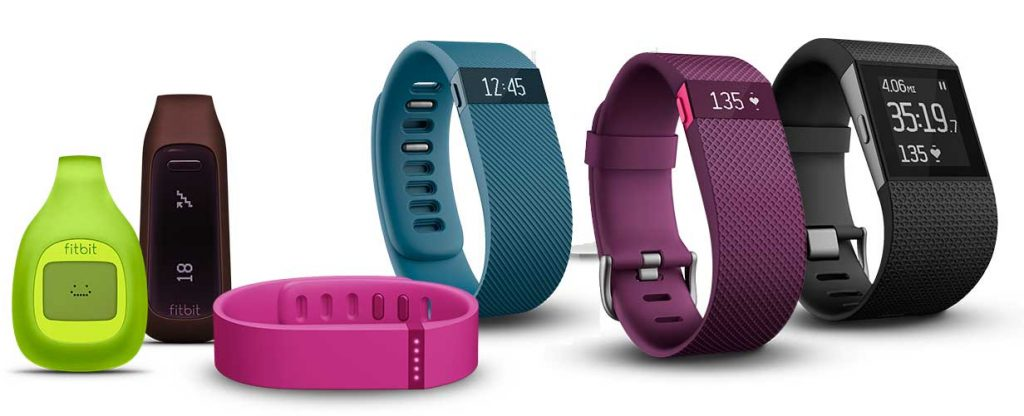 Gama de dispositivos de fitness Fitbit