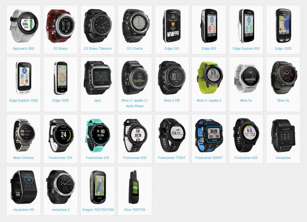 Dispositivos compatibles con la Garmin Connect IQ Store