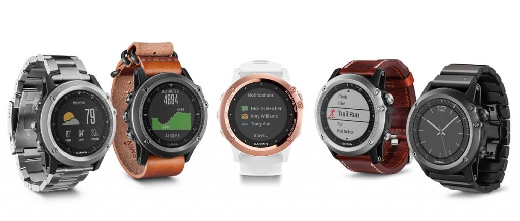 Watch faces del Garmin Fenix 3