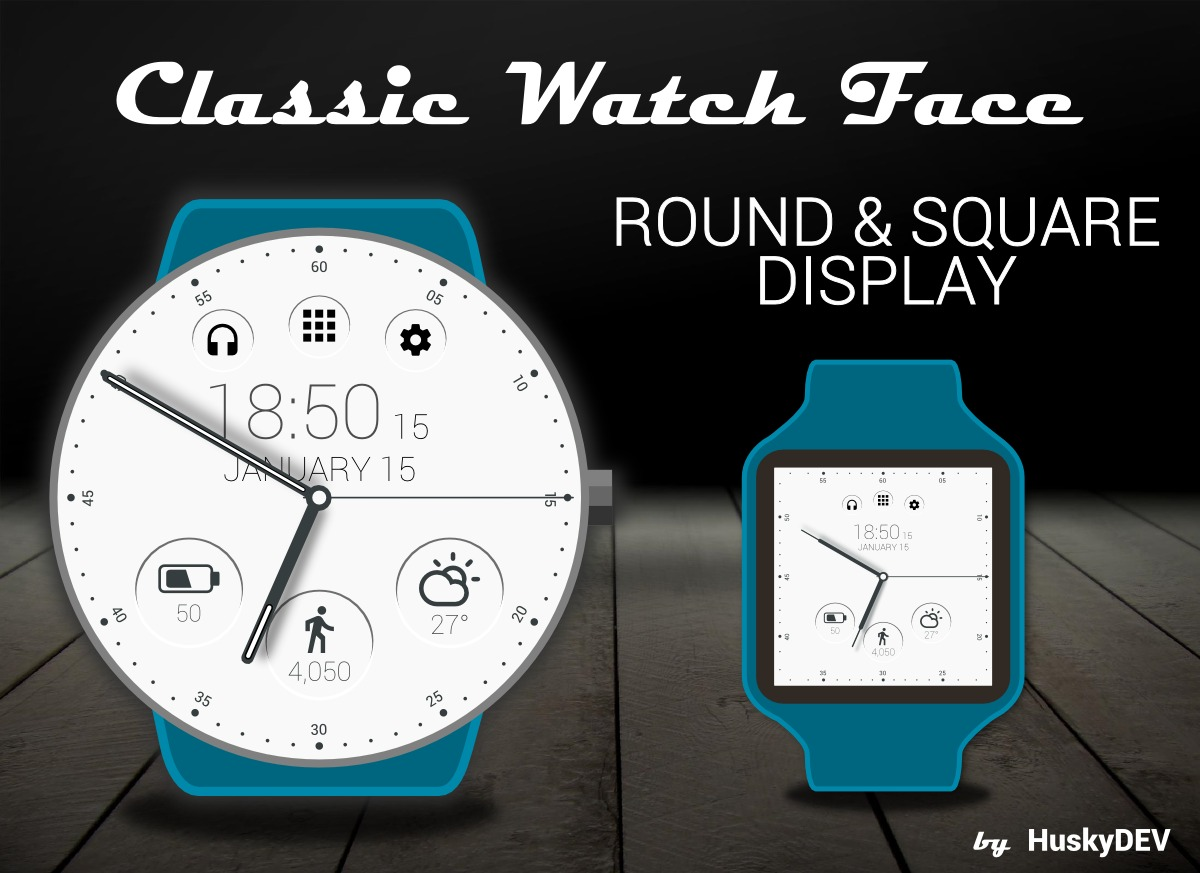 Classic Watch Face para Android Wear 2.0