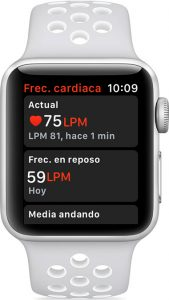 Frecuencia cardíaca en el Apple Watch
