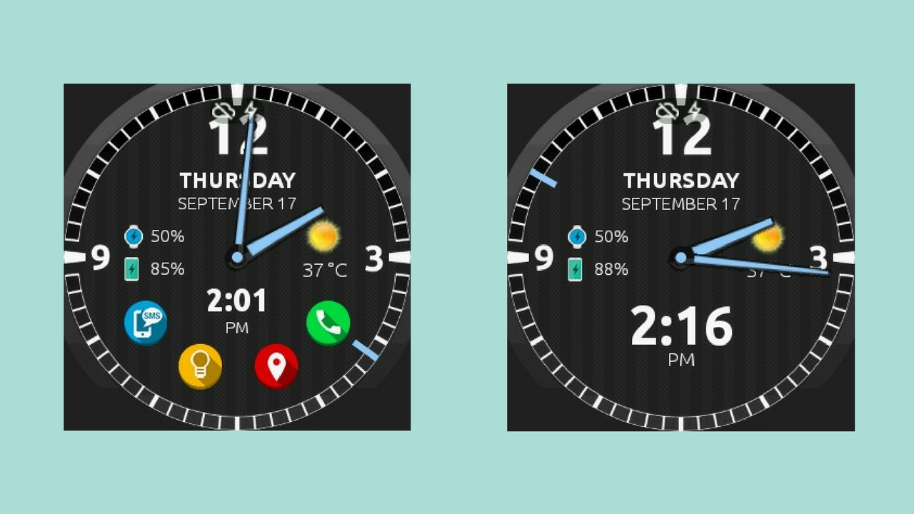 Watch face Ultra con Android Wear
