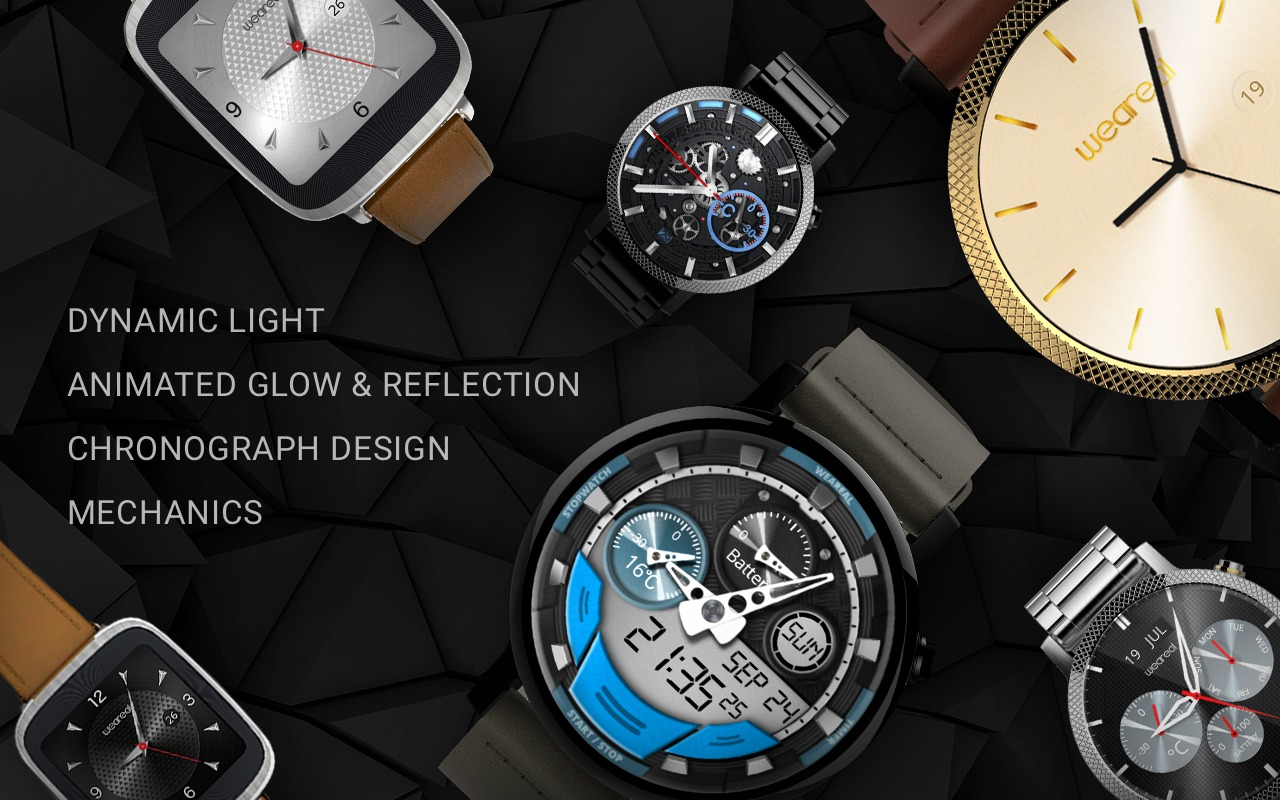 Colección de watch faces Weareal para Android Wear