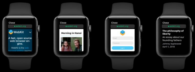 Navegación web en el Apple Watch con watchOS 5