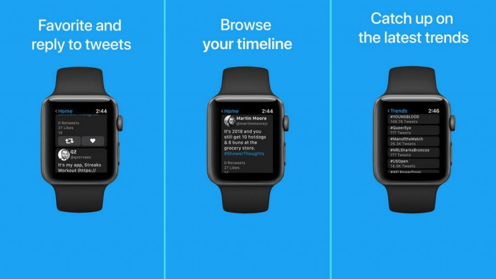 Chirp para el Apple Watch, una app que agrega Twitter al smartwatch de Apple