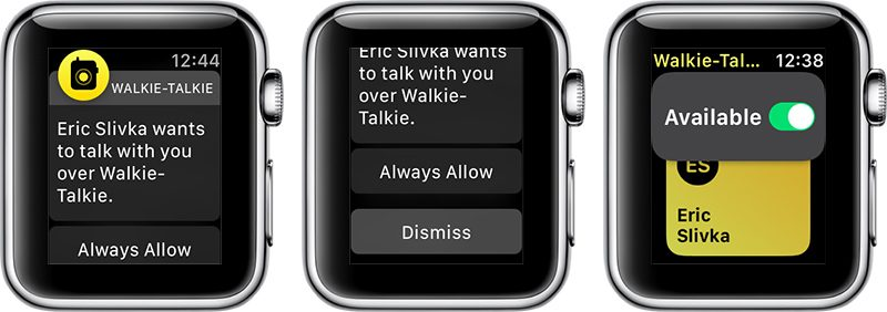 Walkie-Talkie en el Apple Watch