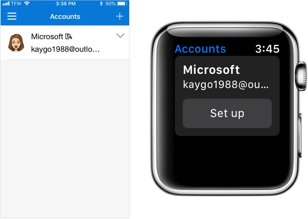 Configurando Microsoft Authenticator en el Apple Watch