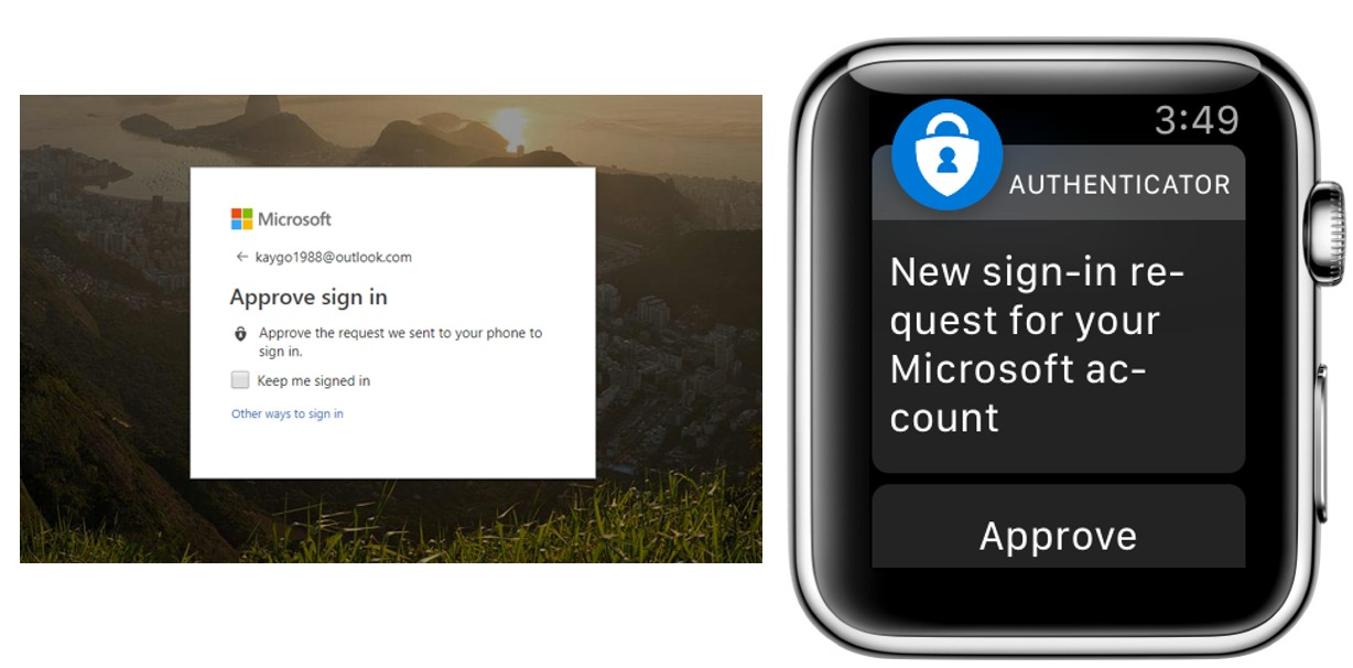 Microsoft Authenticator para el Apple Watch