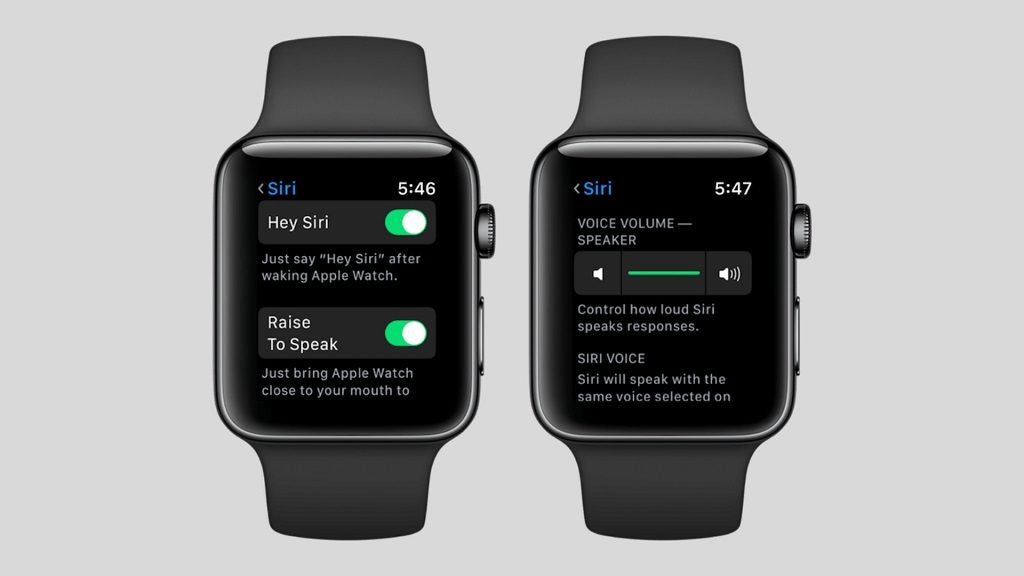 Ajustes de Siri en watchOS 5 para el Apple Watch