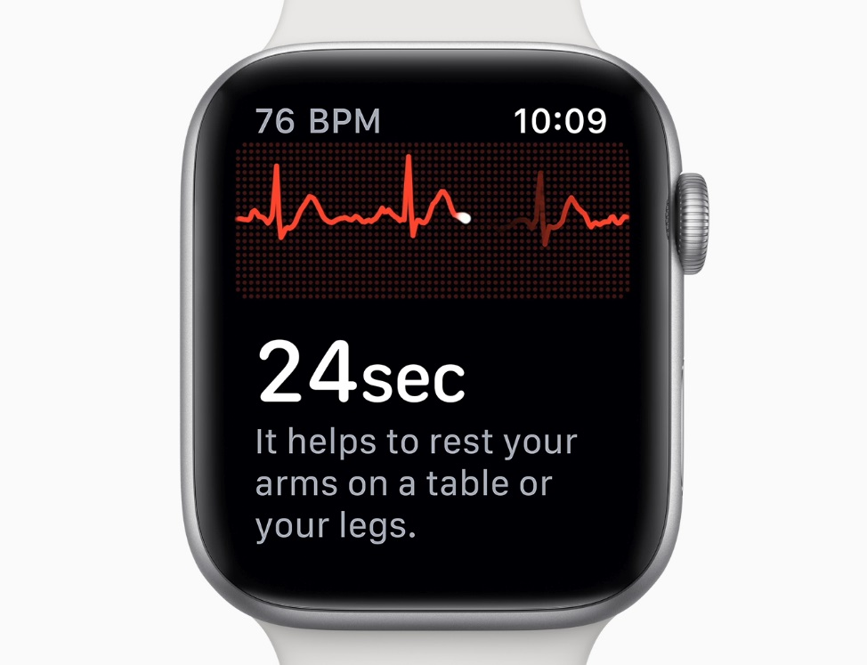 Electrocardiogramas en el Apple Watch Series 4