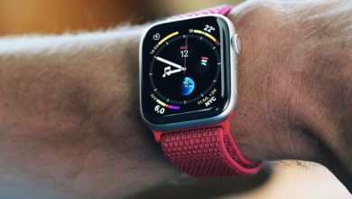 Captura de pantalla de un vídeo promocional del Apple Watch Series 4