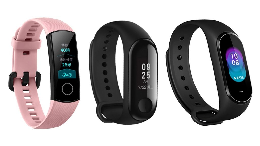 Honor Band 4 vs Xiaomi Mi Band 3 vs Xiaomi Hey+