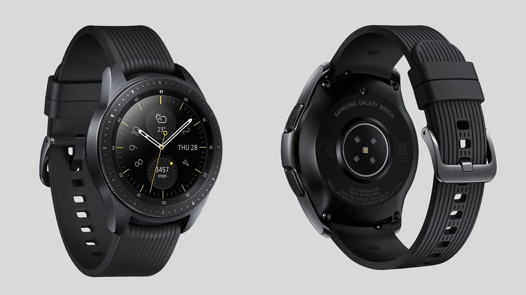 Parte frontal y trasera del Samsung Galaxy Watch