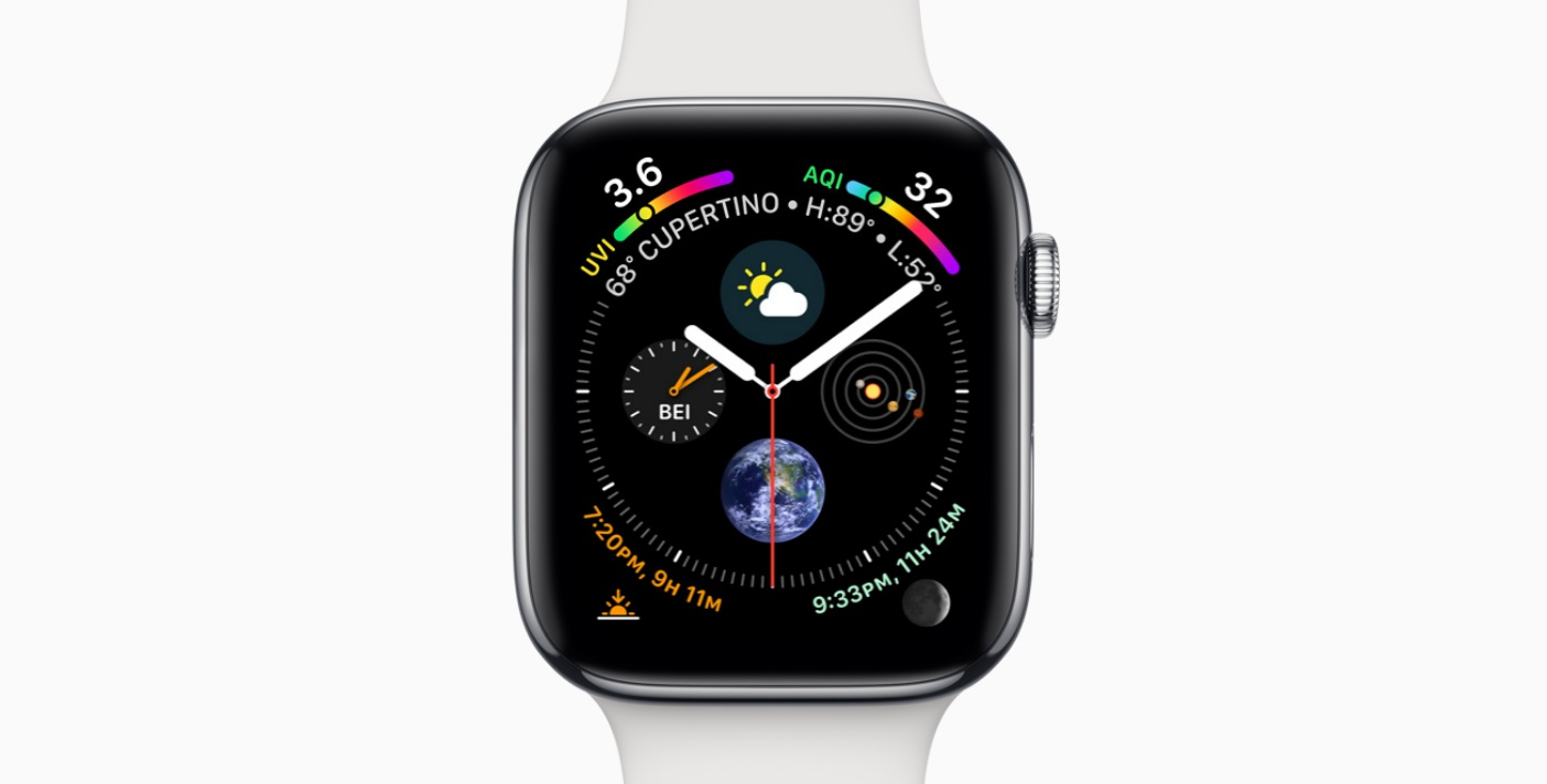 Watch face en el Apple Watch Series 4