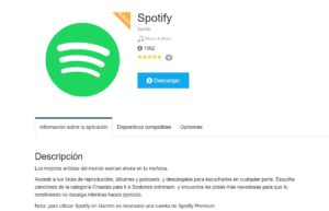 Spotify en la Connect IQ Store de Garmin