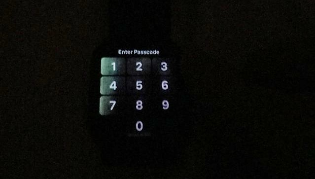"""Fuga de luz"" en la pantalla del Apple Watch Series 4"