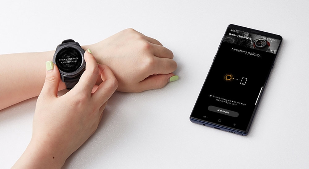 Samsung Galaxy Watch emparejado con un móvil Galaxy