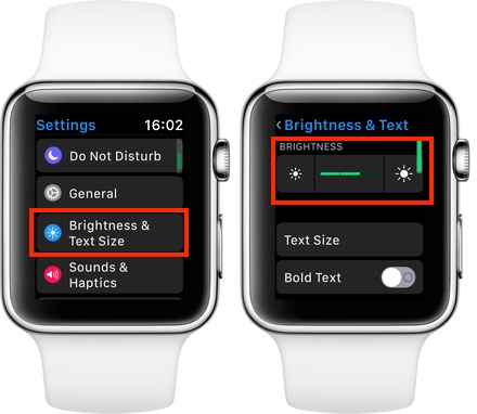 Ajuste del brillo en Apple Watch
