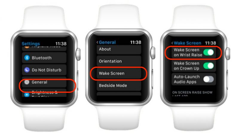 Wake Screen en Apple Watch