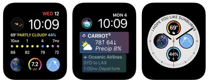 Carrot Weather para el Apple Watch