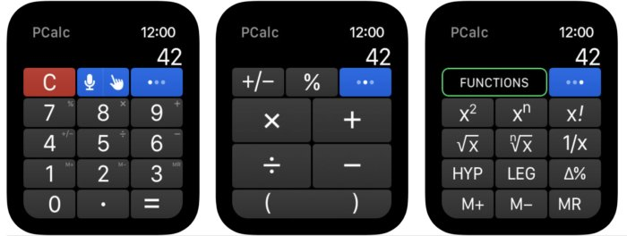 PCalc para el Apple Watch