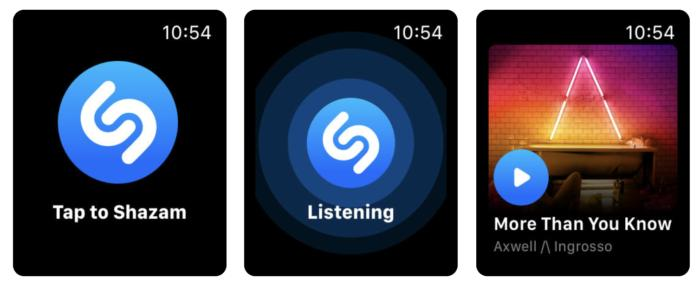 Shazam para el Apple Watch