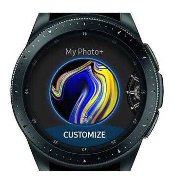 watch faces en el Galaxy Watch
