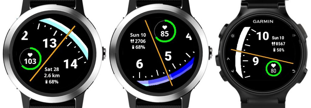 Esfera Half Time para smartwatch y relojes deportivos Garmin, disponible en la Connect IQ Store
