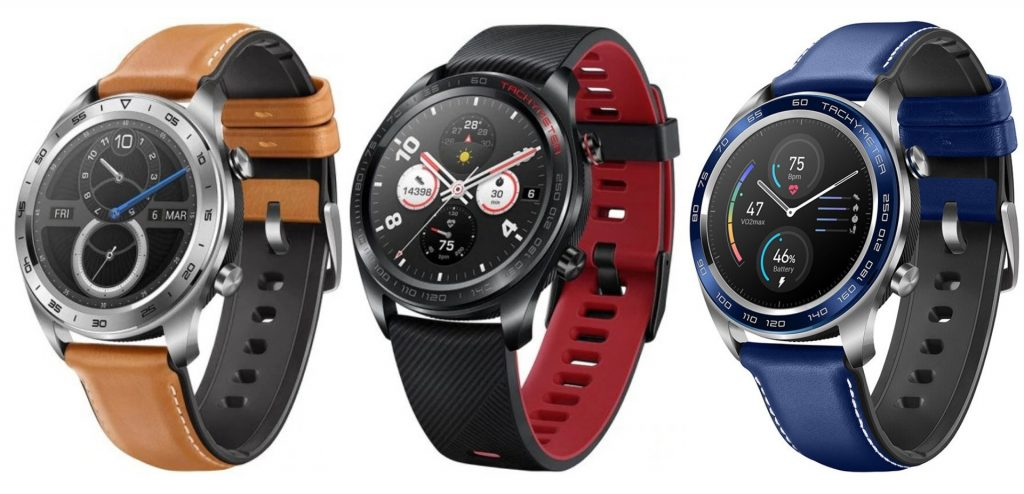 Smartwatches Huawei Honor Magic en color plata, negro y azul