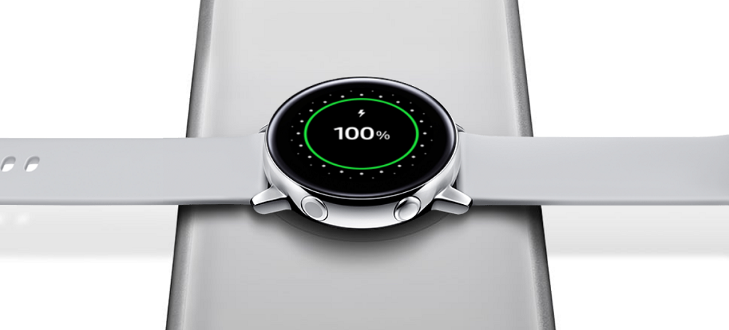 Carga inalámbrica del Galaxy Watch Active | Fuente: Samsung