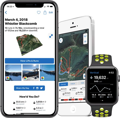 Slopes en el iPhone y Apple Watch