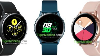 Render del Samsung Galaxy Watch Active
