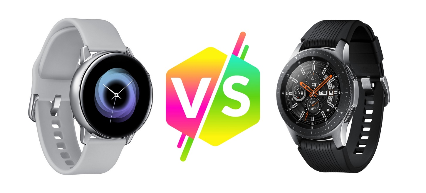 Comparativa entre los relojes inteligentes Galaxy Watch Active y Galaxy Watch de Samsung