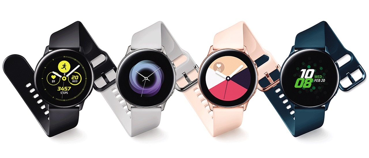 Colores y versiones del reloj inteligente Samsung Galaxy Watch Active