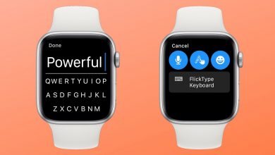 Teclado FlickType para el Apple Watch