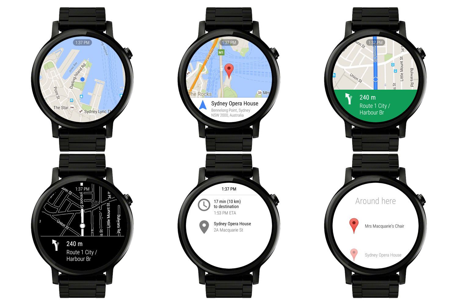 Google Maps en smartwatches