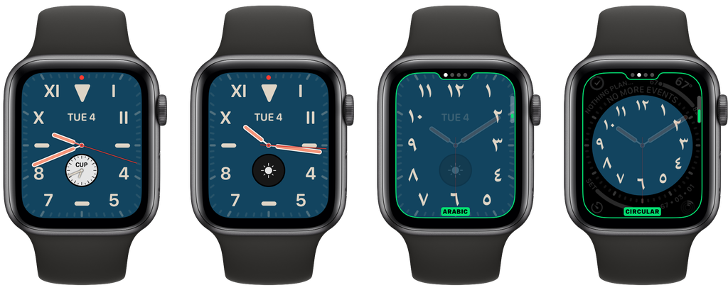 Esfera de reloj California de watchOS 6 para el Apple Watch