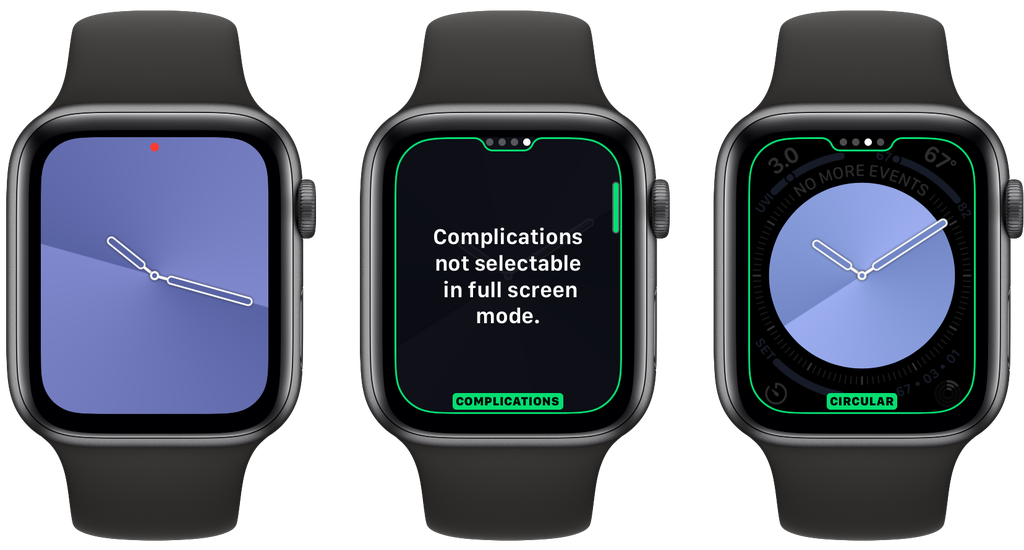 Esfera de reloj Gradient de watchOS 6 para el Apple Watch