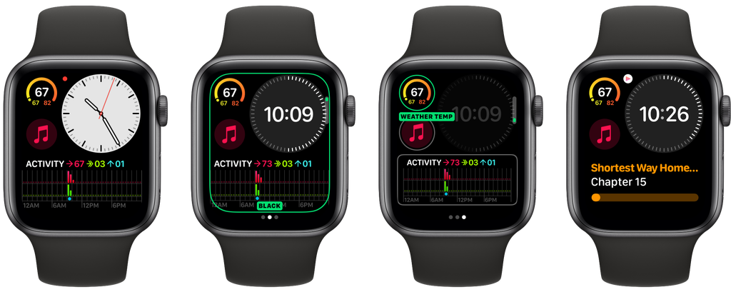 Esfera de reloj Modular Compacta de watchOS 6 para el Apple Watch