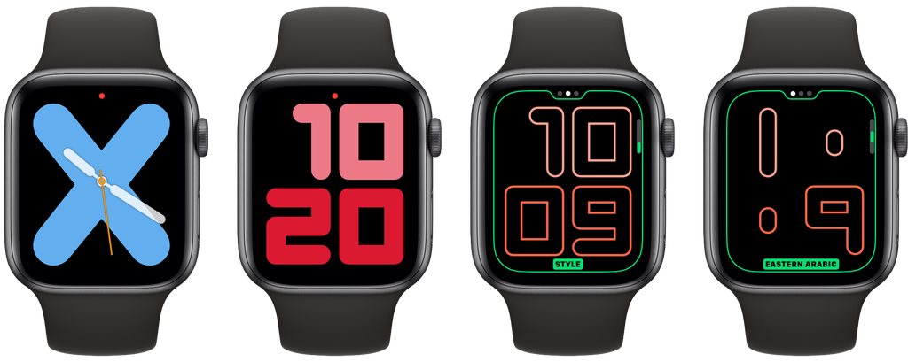 Esfera de reloj Numerals de watchOS 6 para el Apple Watch