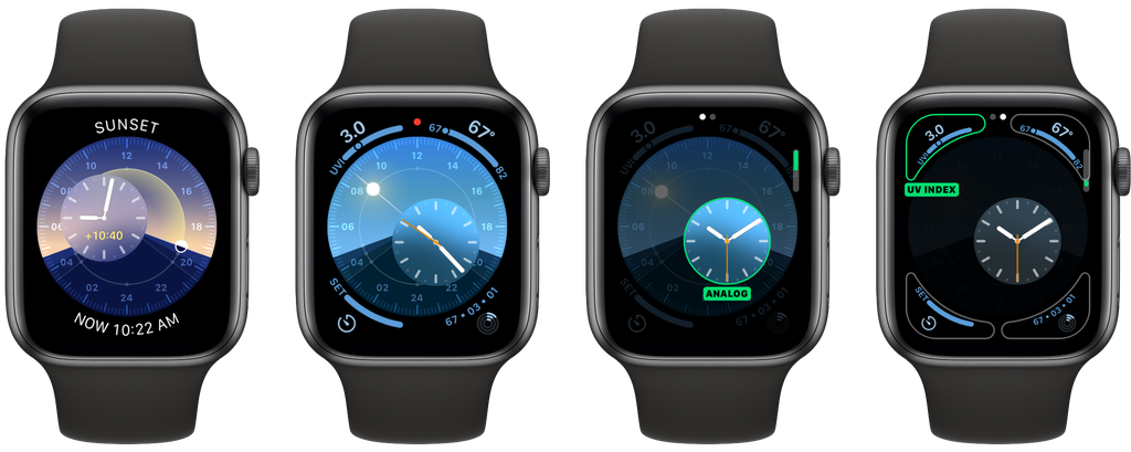 Esfera de reloj Solar Dial de watchOS 6 para el Apple Watch