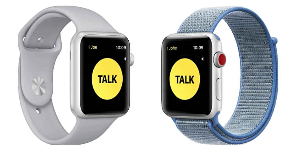 App Walkie Talkie del Apple Watch