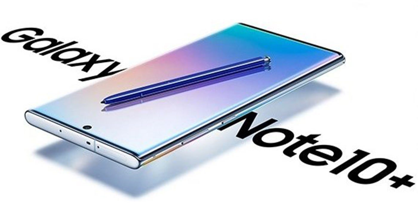 Render oficial del Galaxy Note 10+